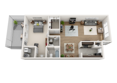 3D Floor Plans over head 2