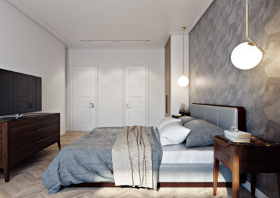 Interior 3D Renderings Bedroom Example Image 1