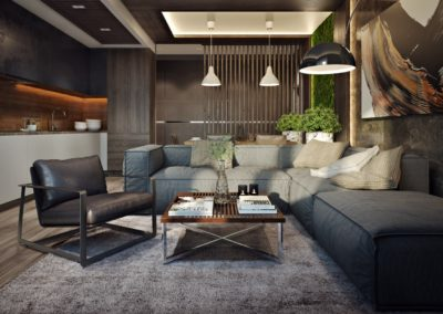 Interior 3D Renderings Example Image living room