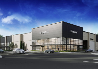 Exterior 3D Renderings Storage Facility 1