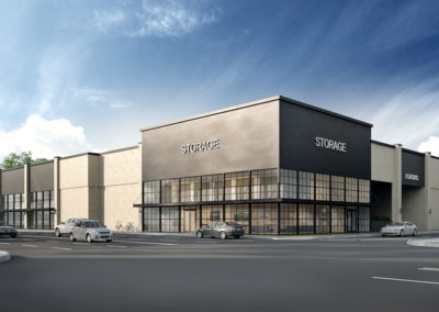 Exterior 3D Renderings Storage Facility 2