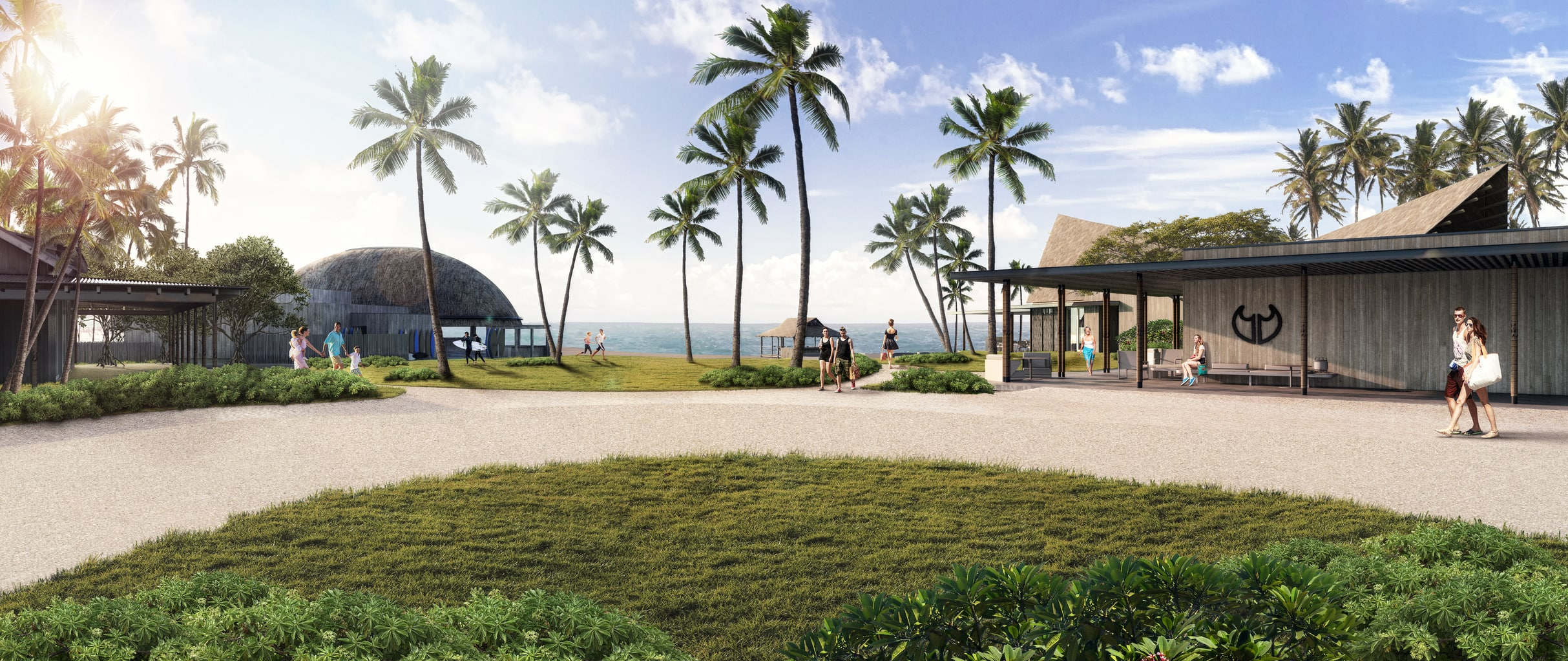 Resort Exterior 3D Rendering